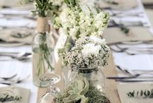 Beige green wedding