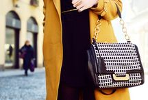 yellow coat outfit fall