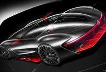 digital car sketch
