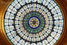 BUDAPEST's domes / Impressive ceilings of buildings of Budapest.