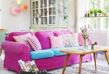 "Happy colours / White and colourful rooms with fun ideas and happy attitude. ""Make me smile""-rooms."