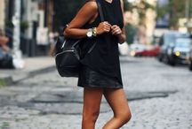 Sneaker+dresses & skirts look / All about sneakers , dresses and skirts inspiration.