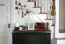 Radiators, fireplace