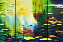 Waterlillies - by Julian Hindson / Waterlillies series of grand scale paintings by Auckland artist Julian Hindson