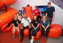 MLB Fan Cave / Hector Santiago and others visiting the MLB Fan Cave