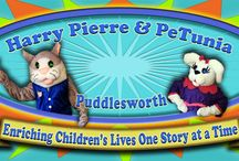 Children's Characters / Harry Pierre & PeTunia are now on Twitter, Facebook, YouTube also! Kids, Children's Entertainment, Education, Art, DIY, Recipes, Quotes, Children's Characters, Children's DVD