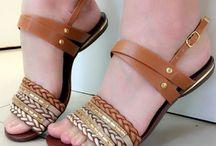 sandália listrado