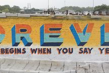Happy Tagging / Philadelphia street art was originally commissioned by the local authority to lift the spirits of the residents. #genius