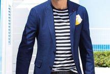 Men - Navy Blazer/Jacket casual style