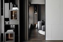 cabinets and shelfs