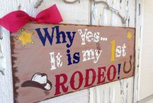 Coleman's first rodeo / First birthday party