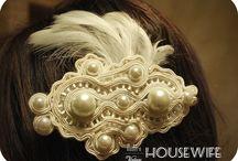 Vintage ozdoby do włosów- sutasz by Modern-Vintage Housewife / Soutache vintage hairclips- Vintage ozdoby do włosów- sutasz by Modern-Vintage Housewife