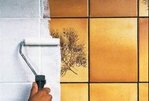 Måla kaklet i köket