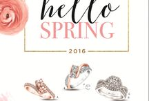 Hello Spring 2016 / .....brings you all the light, color and cool breezes of the season..  Stunning Engagement Rings for those popping the question...or think about upgrading Mom's engagement ring.  ...and don't forget to pick up something just for you - a Charles Garnier Paris Bangle - a fabulous gift with purchase from Chamilia for your favorite Grad - a pendant to honor your fur baby - or even one of those trendy new two stone rings!