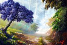 Pintura a óleo paisagens