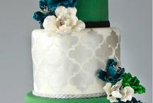 wedding cake - green