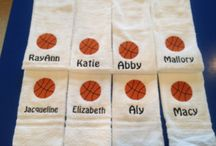 Basketball towels personalized