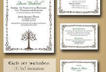 Wedding invitation castle printable