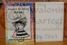 Marleena Ansio cards / Marleena Ansion kortit / Many kind of cards from Finnish postcard artist Marleena Ansio / Monenlaisia kortteja suomalaiselta korttitaiteilijalta Marleena Ansiolta
