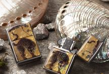 Mother of Pearl Zippo Lighters / Zippo lighters made with natural mother of pearl