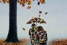πιναξας με φύλλα φθινοπώρου