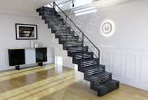Un Escalier avec Contremarches pleines ou ajourées / Que ce soit pour un choix esthétique, sécuritaire ou pour aménager le dessous de votre escalier, nous pouvons réaliser un escalier avec des contremarches. Les contremarches peuvent être pleines en acier ou recouvertes de bois ; elles peuvent aussi être ajourées suivant différents design by Escaliers Décors®. Exigez l'original !