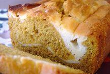 Pumpkin cream cheese loaf