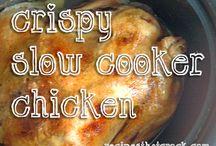 Slow cooker crispy chicken