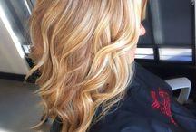 warm blonde hair