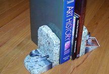 Granite Book ends