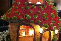 magical toadstool houses