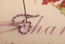 How to embroider words