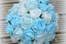 Turquoise + Teal Theme Wedding / We create unique, one off wedding bouquet designs for UK brides from stunning artificial flowers, here are a selection of our bridal flower designs as well as wonderful wedding themed ideas to compliment the turquoise colour scheme. You can visit our website to view our latest designs www.thebridesbouquet.co.uk - we also offer a bespoke service allowing you to work with us to create your own stunning collection