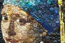 Incredible Art made with Buttons