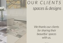 Our Clients Designs / Espacios y diseños con nuestros tapetes African Leather en casas en nuestros clientes.