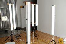 Studio women light posing