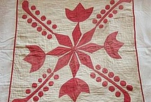 Red white quilt