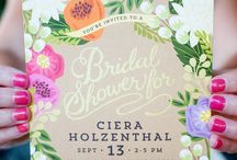 Tropical bridal showers