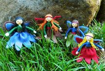 sewing in felt woodland people/fairies