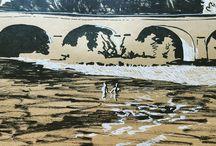 my work Bridge over #dordogne #france #ink #sketch www.coleajeremy.com