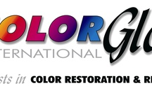 Color Glo International / Color Glo International is the World Leader in restoration and repair of leather, vinyl, velour, cloth and hard plastics commonly found in the markets of Automotive, Aircraft, Marine and Furniture. Formally incorporated in 1975 Color Glo began franchising in 1982. Today in hundreds of markets throughout world. Color Glo products are proven everyday to offer the correct results and best value every time they are put to the test. We initially began our franchising in the United States and have since then expanded into Canada and over 30 countries world wide. Our focus is restoring and repairing common defects such as worn and faded interior components such as leather upholstery, headliners, burns and broken plastic or composite molding. These problems are found in the interior of every automobile, RV, truck sports vehicle, plane or boat in use today. Color Glo Can Restore the Integrity of Your Investment Color Glo is an international color restoration and repair company with hundreds of franchised offices throughout the U.S. and several foreign countries. We specialize in repairing all types of damaged, mismatched, dirty, faded upholstery found in the home, office, automobile, private or commercial aircraft, boats and commercial seating venues. In addition, Color Glo offers re-dyeing or color restoration services for when you just want to improve the appearance of the existing finish or in many cases we can even provide a complete color change. Color Glo has serviced thousands of clients in commercial facilities including theaters, auto dealerships, office buildings, marinas, schools and colleges, retail stores, restaurants, hotels, apartment buildings, homes and more. Our process uses specially formulated proprietary water based and environmentally friendly, non-flammable, odor free products that are made in the USA. Color Glo re-conditioned items dry in minutes which allows the customer to use their investment almost immediately. Color Glo customers also like the fact that the process takes place at their own site. There is no down time involved in dropping off your item or picking it up …we come to you, leaving valuable time for your needs…not ours.