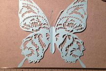 butterflies of paper cutting works