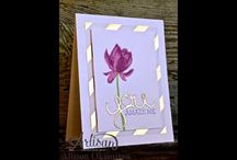 Stampin up Lotus Blossom stamp set, handmade card and gift ideas. / Stampin up Lotus Blossom stamp set, handmade card and gift ideas.Stampin up Stamp Sets quick & Easy cards using stampin up stamps and punches featuring many of your favourite stamp sets and punches, including sprinkles of life, wetlands, petite petals, lovely as a tree, painted petals, sheltering tree, butterfly basics etc.