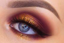 Kultainen silmämeikki