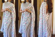 Saree in different way