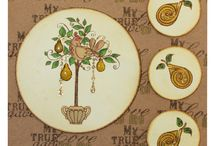 Partridge in a Pear Tree / This is the Brand new set Partridge in a Pear Tree from the Sharon Bennett Collection at Hobby Art. This gorgeous set contains 9 clear polymer stamps.  / by Hobby Art