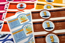 Sheeted Stickers / Digitally printed vinyl sheeted stickers with digitally kiss cuts to any size or shapes