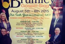 Brumley Gospel Sing 2015! / 47th year for this great event.  Largest Summer Sing! 4 Nights, 2 stages, 25 of the best artists in Southern Gospel/Gospel Bluegrass.  Reserved seating available 800-435-3725