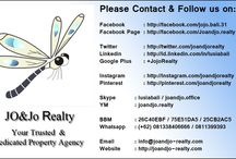 JO & JO Realty Bali / Please do not hesitate to contact and follow us on: