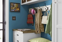 *Home - Mud Room / Keeping all that stuff organized as you come in the door... / by krista@thehappyhousie